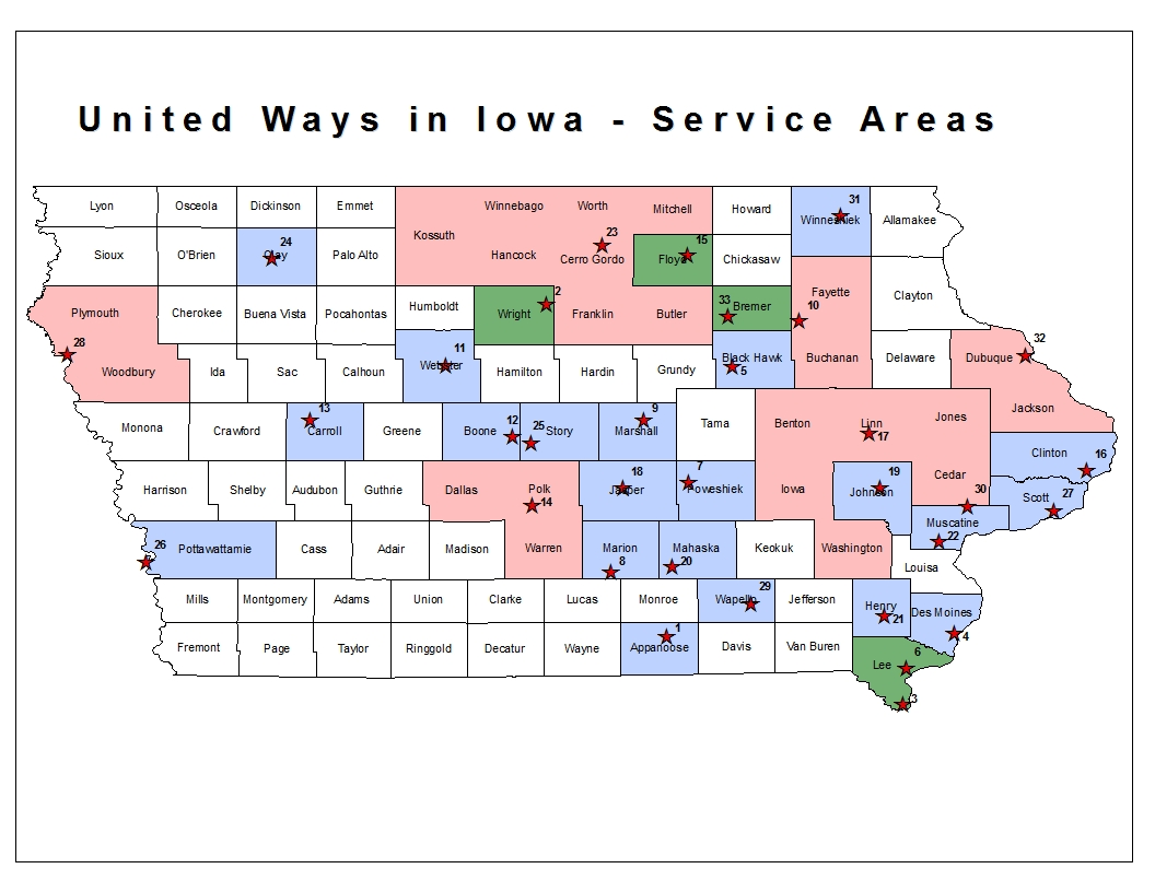 United Way Service Areas